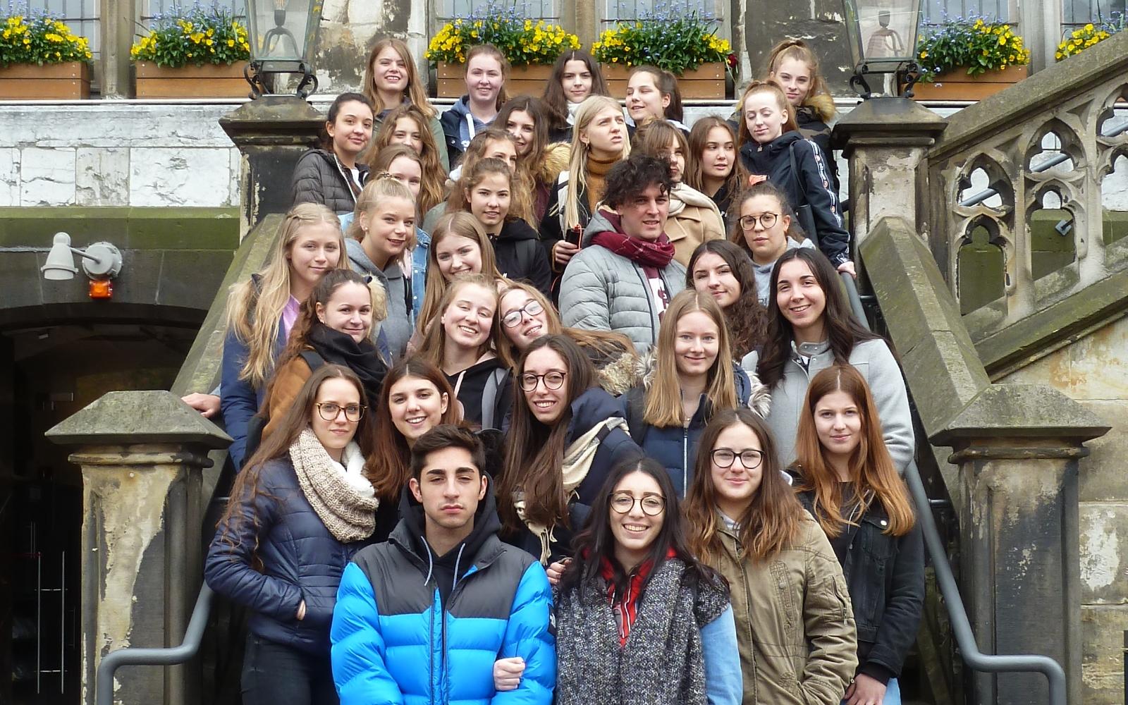 Italienische Schülergruppe am GAM